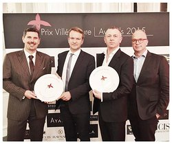 """Best Interior Design in a hotel in Europe"" PRIX VILLEGIATURE 2015 is awarded to FG Stijl for Park Hyatt Vienna"