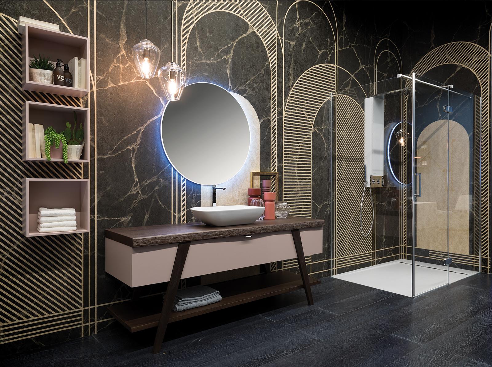 L 39 arredo bagno contemporaneo ed elegante della collezione fratino design contract - Arredo bagno contemporaneo ...